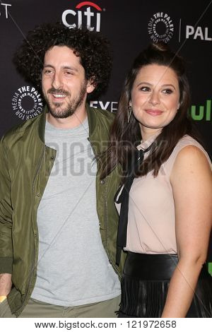 LOS ANGELES - MAR 15:  Adam Shapiro, Katie Lowes at the PaleyFest Los Angeles - Scandal at the Dolby Theater on March 15, 2016 in Los Angeles, CA