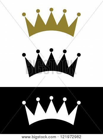 Vector Crown Set in Colour, Black and Reverse