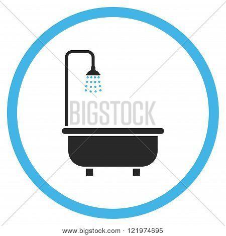 Shower Bath Flat Vector Icon
