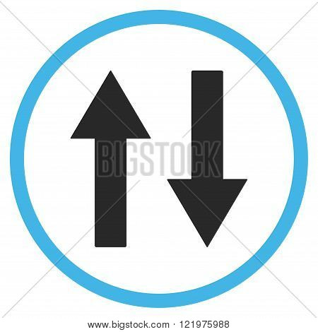 Vertical Flip Arrows Flat Vector Icon
