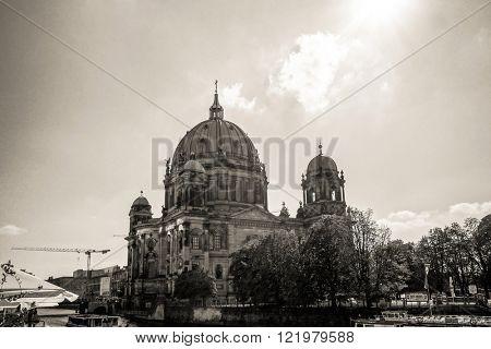Berlin, Mitte - November 24 : Berlin Cathedral Church. German Berliner Dom. A famous landmark. November 24, 2013 in Berlin, Germany.