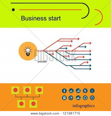 Modern vector business concept, analysts and finance