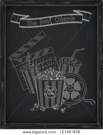 Beautiful Big Striped Carton Box Full Of Delicious & Fresh Popcorn, Carton Cup With Drinking Straw,