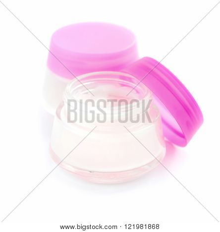 Cosmetic creams isolated on a white background