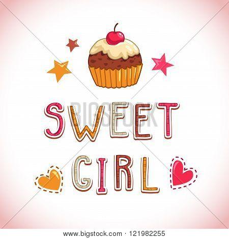 Sweet girl illustration