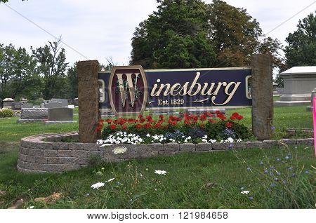 Town sign of Winesburg, Ohio