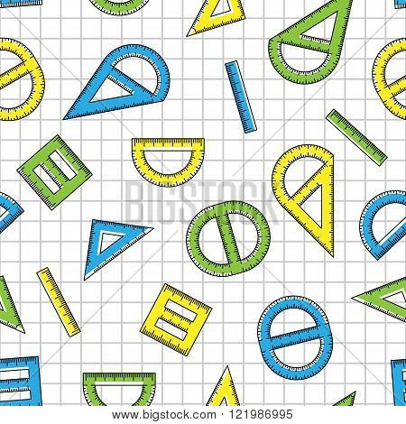 The pattern of multicolored rulers of student