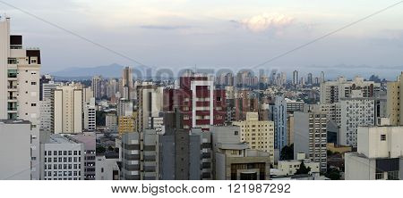 panoramic view photo of the city with cloudy sky
