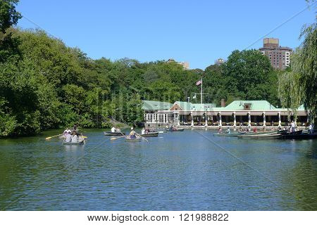 New York - September 20: Loeb Boathouse of Central Park in New York City on September 20, 2015