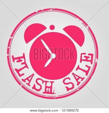 flash sale retro stamp with with clock