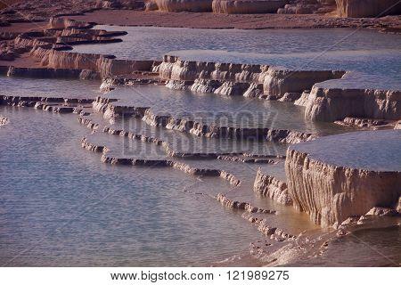 Geologic Terraces At Pamukkale