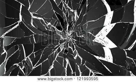 Pieces Of Demolished Or Shattered Glass