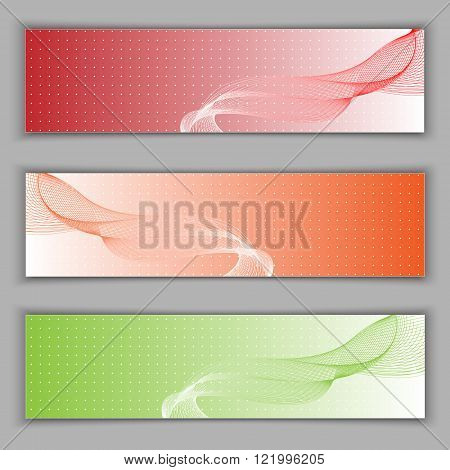 Set banners. vector illustration. Used opacity mask and transparency layers of background.