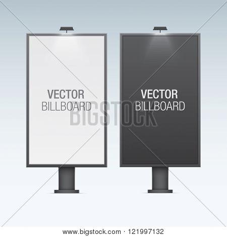 Vector billboard. Set of realistic vertical billboards.
