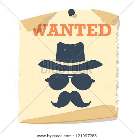 Wanted poster vector icon.