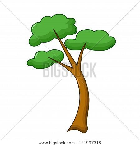 Tree Icon, Cartoon Style