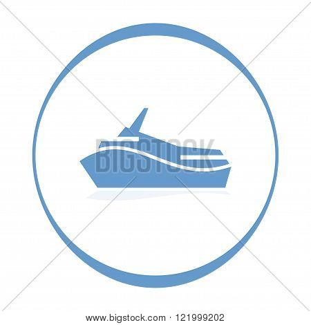 Ship icon. Vector illustration. EPS 10 opacity