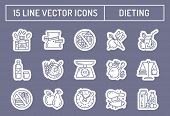 Healthy diet icons poster