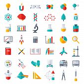 Постер, плакат: Physics Chemistry Biology Icons Set