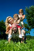 picture of horse riding  - Wife and daughters horse riding daddy  - JPG