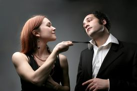 stock photo of hot couple  - a couple in effusion - JPG