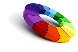 pic of color wheel  - 3d color wheel - JPG
