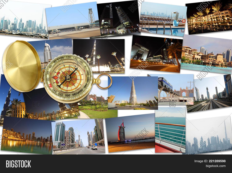 Collage Dubai United Arab Emirates Image Photo Bigstock