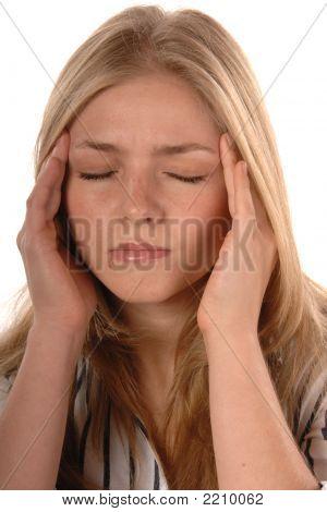 Stress Headache Isolated On White