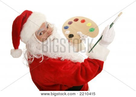Künstler-Santa-Farben