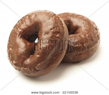 chocolate donut isolated on a white background