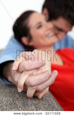Affectionate couple enjoying each others company