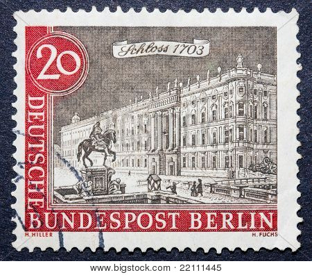 A German Stamp Of A Majestic Building