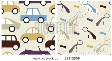 Set of male seamless patterns