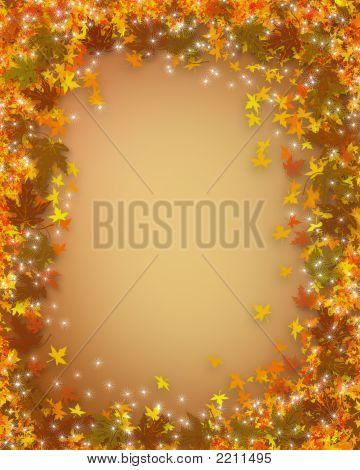 Autumn Leaves Sparkle