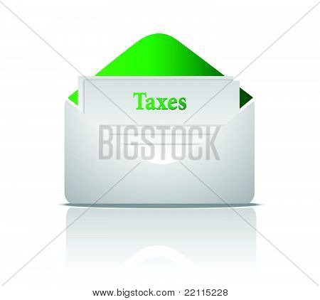 tax mail illustration design over a white background