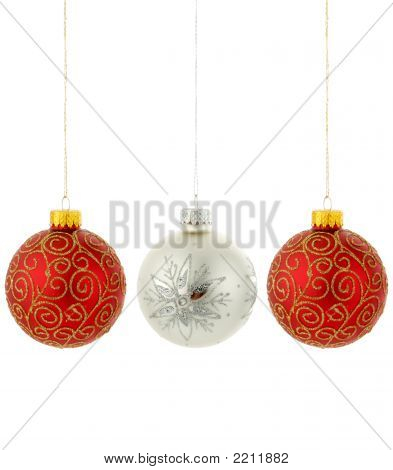 Red Hanging Christmas Ornaments