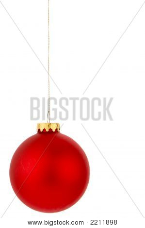 Red Hanging Christmas Ornament