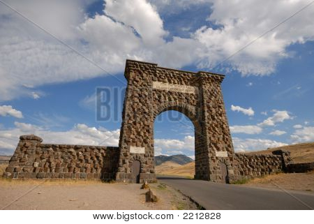 North Entrance To The  Yellowstone Np