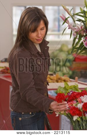 Woman Buying Flowers
