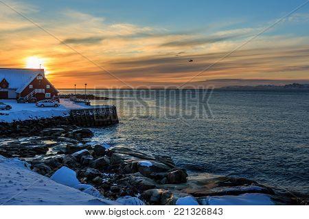 Nuuk city rocky