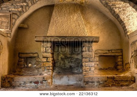 Fireplace in a Farmhouse