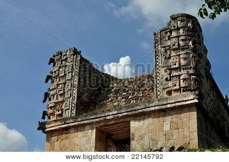 Sculpture of the god Chac - Uxmal