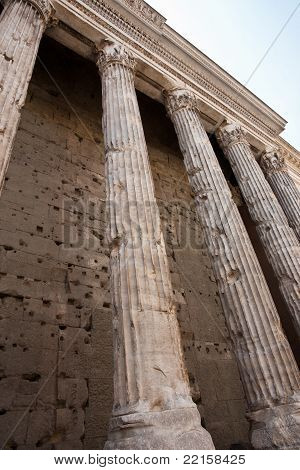 Pillars of Hadrians Temple.