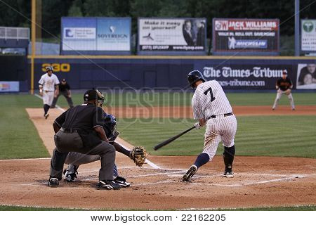 Scranton Wilkes Barre Yankees batter Terry Tiffee