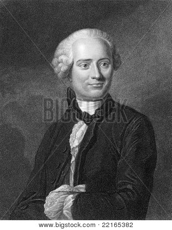 Jean le Rond d'Alembert (1717-1783). Engraved by W.Hopwood and published in The Gallery Of Portraits With Memoirs encyclopedia, United Kingdom, 1833.
