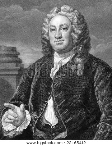 Martin Folkes (1690-1754). Engraved by R.Hart and published in The Works of Hogarth, United Kingdom, 1833.