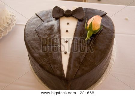 Grooms Wedding Cake