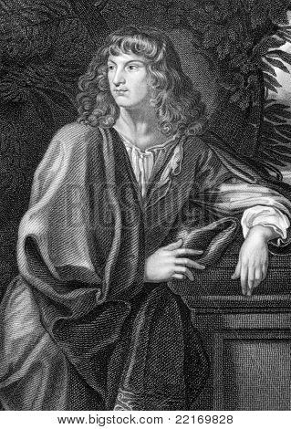 Robert Spencer (1641-1702). Grabado por W.H.More y publicado en encyclop de retratos británico del Lodge