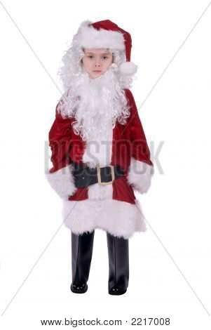 Boy In Santa Suit
