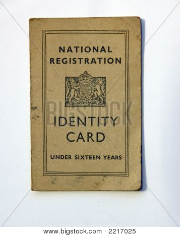 British War Time Identity Card